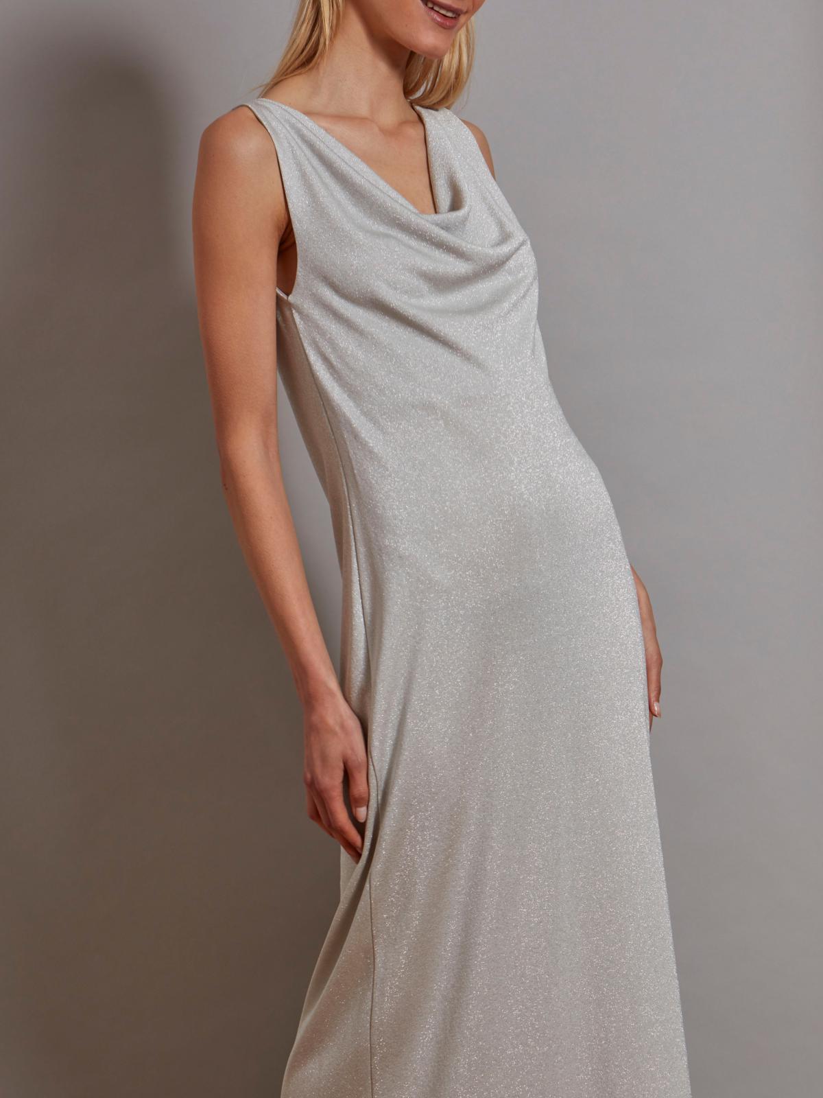 Robe Longue Lisa En Lurex Maison Lurex