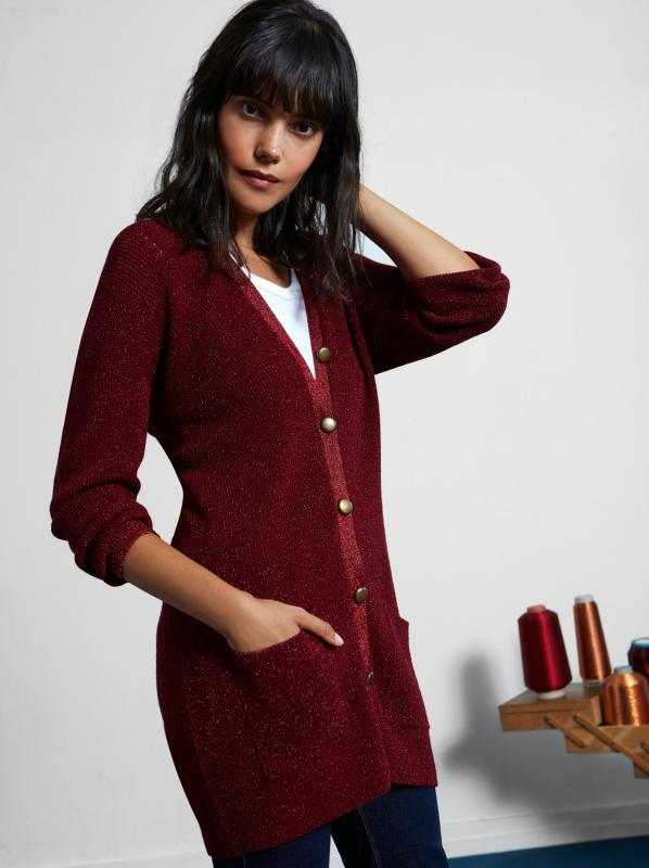 CARDIGAN LUREX® PICADILLY
