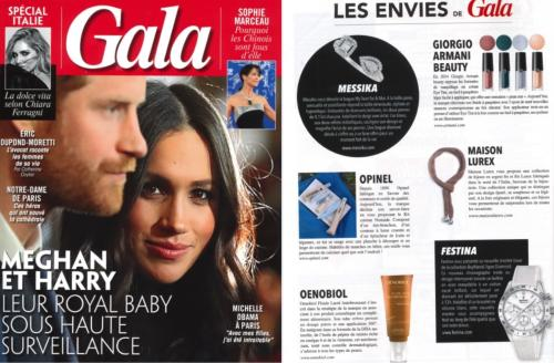 Article paru sur le magazine Gala - le 25 avril 2019